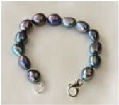 Peacock Coloured Freshwater Pearl Bracelet Commission