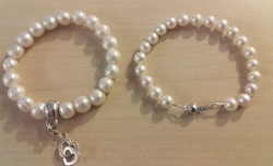 Hand knotted pearl bracelet repairs.